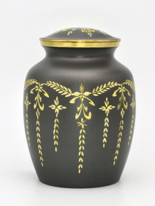 Dark Grey Cremation Urn