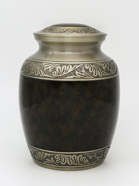 Black Auburn Brown Cremation Urn