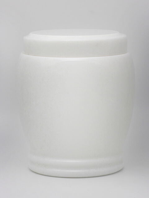 White Marble Cremation Urn AUT-10015a